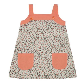 Bebe by SO-EN Infant's Sleeveless Dress with Pocket (Coral) Price Philippines
