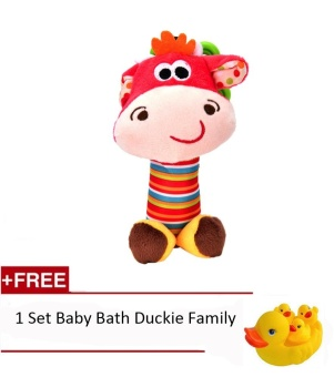 Bed Crib Stroller Baby Rattle Stick Teether Stuffed Plush Doll BibiBB Sound Bed hanging Toy Toys Puzzle Bell Ring Infant Puppet - intl