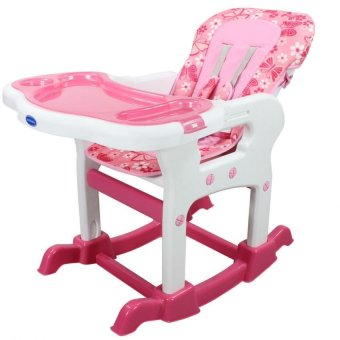 Bestbaby 3 in 1 Adjustable Multi-function Baby Feeding TrayHighchair Rocking Chair(Pink) - 3