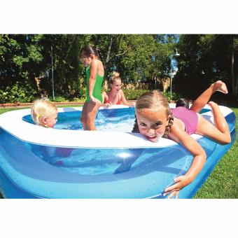 BESTWAY Blue Rectangular Kid's size Pool with FREE Electric Air BedPump - 2