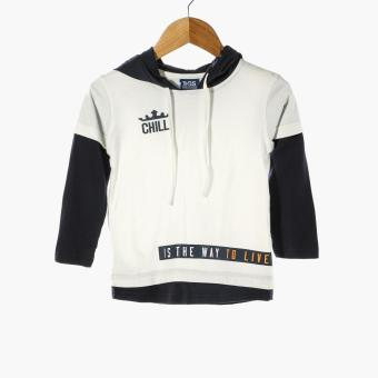 BGS Baby Boys Chill Hooded Shirt (Cream)