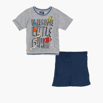 BGS Boys Awesome Little Guy Tee and Shorts Set (Gray)