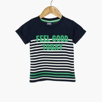 BGS Boys Feel Good Today Tee and Shorts Set (Navy Blue) - 2