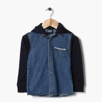 BGS Boys Hooded Denim Jacket (Blue) Price Philippines