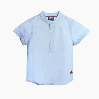 BGS Boys Mandarin Collared Casual Shirt (Blue) Price Philippines