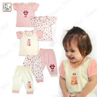Blouse Pajama Set of 6 Lets Travel Clothing Set by Disney Baby (6-9Months)