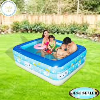 Blue Rectangular Kid's size Pool Happy Swim Price Philippines