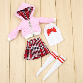 Blythe Japanese-style white lace skirt Yang small cloth doll