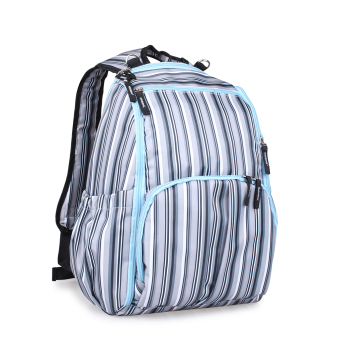 BolehDeals Multifunctional Travel Diaper Backpack Bag WaterproofMummy Bag Blue Striped Price Philippines