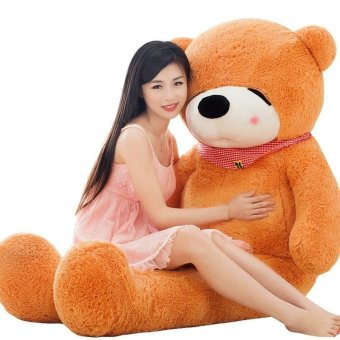 BoomBoom Brown Stuffed Toys Animal Teddy Bear Plush Soft Toy 100CM - intl