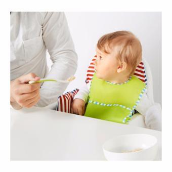 Borja Feeding Spoon and Baby Spoon (White/green) - 2
