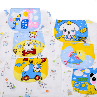 Boys Printed Absorbent Back Towel/Washcloth Pack of 6