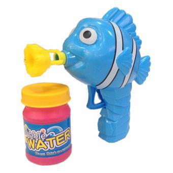 Bubble Fish Gun Shooter Soap Bubble Blower Kids Child Toys - Blue - 2