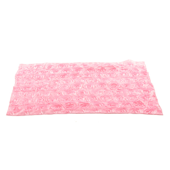 Buytra Baby Photography Props 3D Rose Flower Backdrop Pink