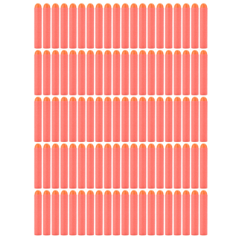 Buytra Gun Bullet Darts For NERF N-Strike Round Head Red 100 Pcs - picture 2