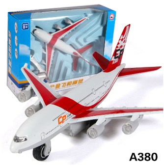 Caipo A380 alloy airport airplane model sound light electric Warrior toys