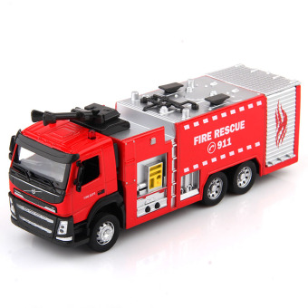 Caipo alloy fire truck ladder truck fire truck model