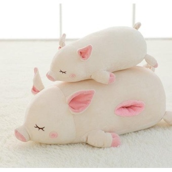 Candice guo plush toy stuffed doll cute soft pig piggy sofa pillowsleep cushion hand warm birthday gift christmas present1pc(Multicolor)(OVERSEAS) - intl