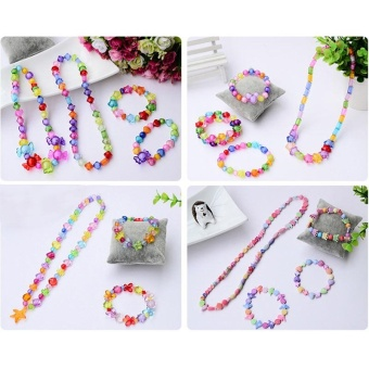 Candy Colors DIY Wear Beads for Bracelet Kids Toys Geometric ShapePersonalized Jigsaw Puzzle - intl - 4
