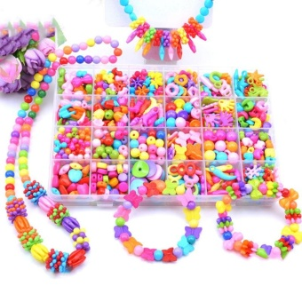 Candy Colors DIY Wear Beads for Bracelet Kids Toys Geometric ShapePersonalized Jigsaw Puzzle - intl - 2