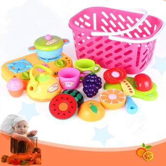 Candy Online Cut Fruit Toys Basket Of fruit And Vegetables CookingToys Set