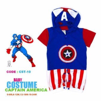 Captain America Baby Romper Costume (0-6 Months)