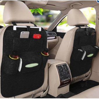 Car Back Seat Organizer Storage Multi Pocket (Black)