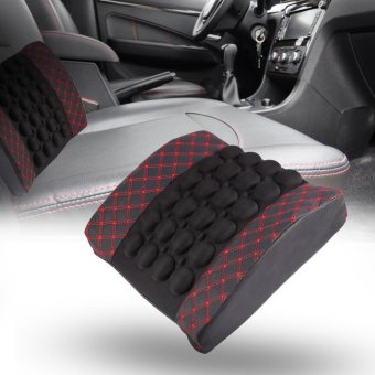 Car Electrical Ergonomic Vibration Massage Seat Cushion ComfortSoft Lumbar Pillow - intl