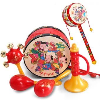 Cartoon children's baby children's rattle wavy drum
