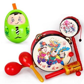 Cartoon children's hand music drum rattle