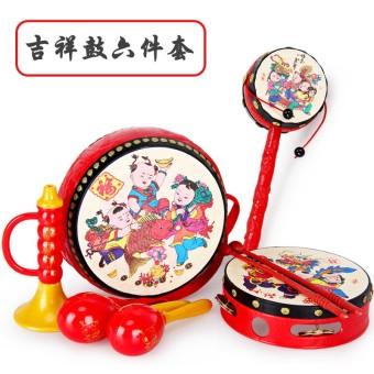 Cartoon newborns children's music drum rattle