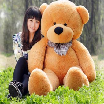 CatWalk Intimate Stuffed Animal Teddy Bear Plush Soft Toy 60CM(Light Brown) - 3