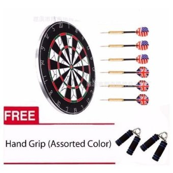 "Champion 18"" Dart Board with 6 Darts with Free Hand Grip 1 pair"