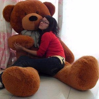 Chengyu Dark Brown Stuffed Toys Animal Cute Teddy Bear Plush Soft Toy Birthday Present 100CM - intl