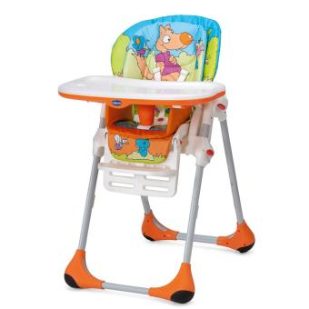 Chicco Polly 2In1 High Chair Wood Friends (4 Wheels)