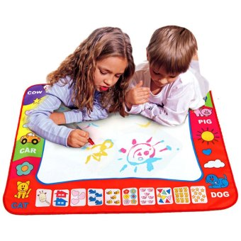 children aqua doodle drawing toys 1 painting mat and 2 water drawing pen - Children Painting Images