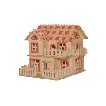 Children Kids 3D Woodcraft Cottage/Villa DIY Jigsaw Puzzle