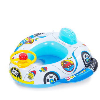 Children Kids Babies Car Wheel Horn Style Inflatable Pool Swim RingSeat Float Boat