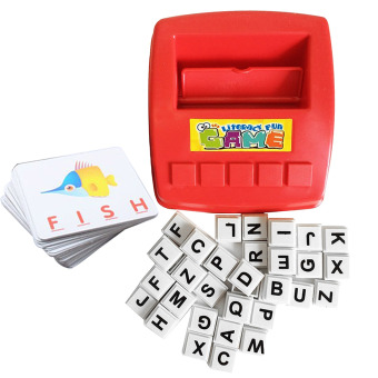 Children Kids Learning English Alphabet Word Puzzle Games Color Flash Card Seeing Spelling Early Education Toys for Over 3 Years Old Kids - Intl