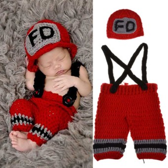 Children New Baby Photography Props Knitting Suit - Intl