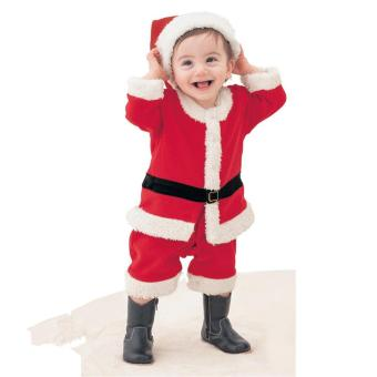 Children New Christmas Costume Toddler Baby Boy Performance ClothesSanta Suits with christmas hat - intl