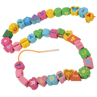 Children Numbers Letters Wooden Toy - picture 2