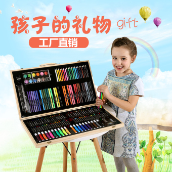 Children painted student children's watercolor brush easel