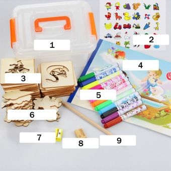 children painting stencil templates with water color pen set morethan 55 stencil creative drawing tools gift - Kids Painting Templates