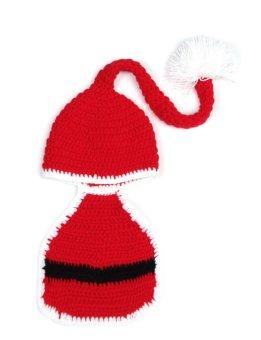 Christmas Costume Hat&Diaper/Pants Set Newborn Baby Photo Props Toddler Santa Photography Props 1set - Intl - picture 2