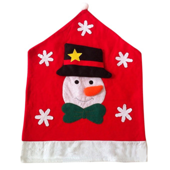 Christmas Snowman Kitchen Chair Covers - INTL