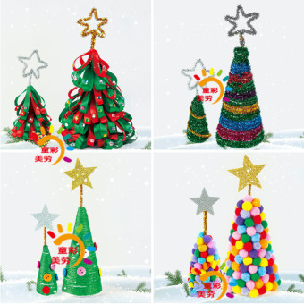 Christmas tree handmade DIY for making material box