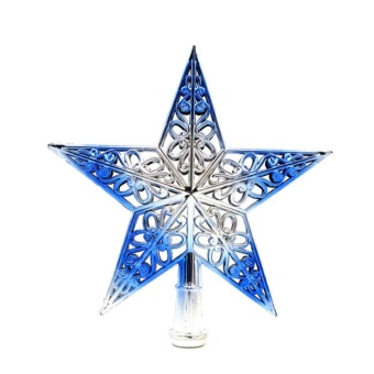 Christmas Tree Star Topper Ornament Party Decoration XmasDecorations Stars Blue - intl Price Philippines