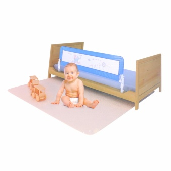Classic Bed Lattice Baby Bed Guard Bed Rail (Blue)