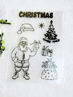"Clear Stamps DIY Scrapbooking Craft Card Christmas Santa Claus 4""x 6"" - intl"